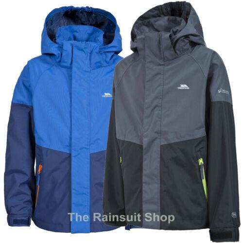 TRESPASS BOYS FULLY WATERPROOF RYAN HOODED RAIN JACKET COAT KIDS CHILDS 3-12yrs