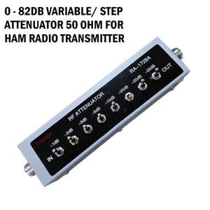 0 82db Variable Step Attenuator 50 Ohm For Ham Radio Transmitter Dc To 250mhz Ebay