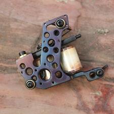 Handmade Cast Iron Tattoo Machine Shader tattoo gun 10 wrap coils