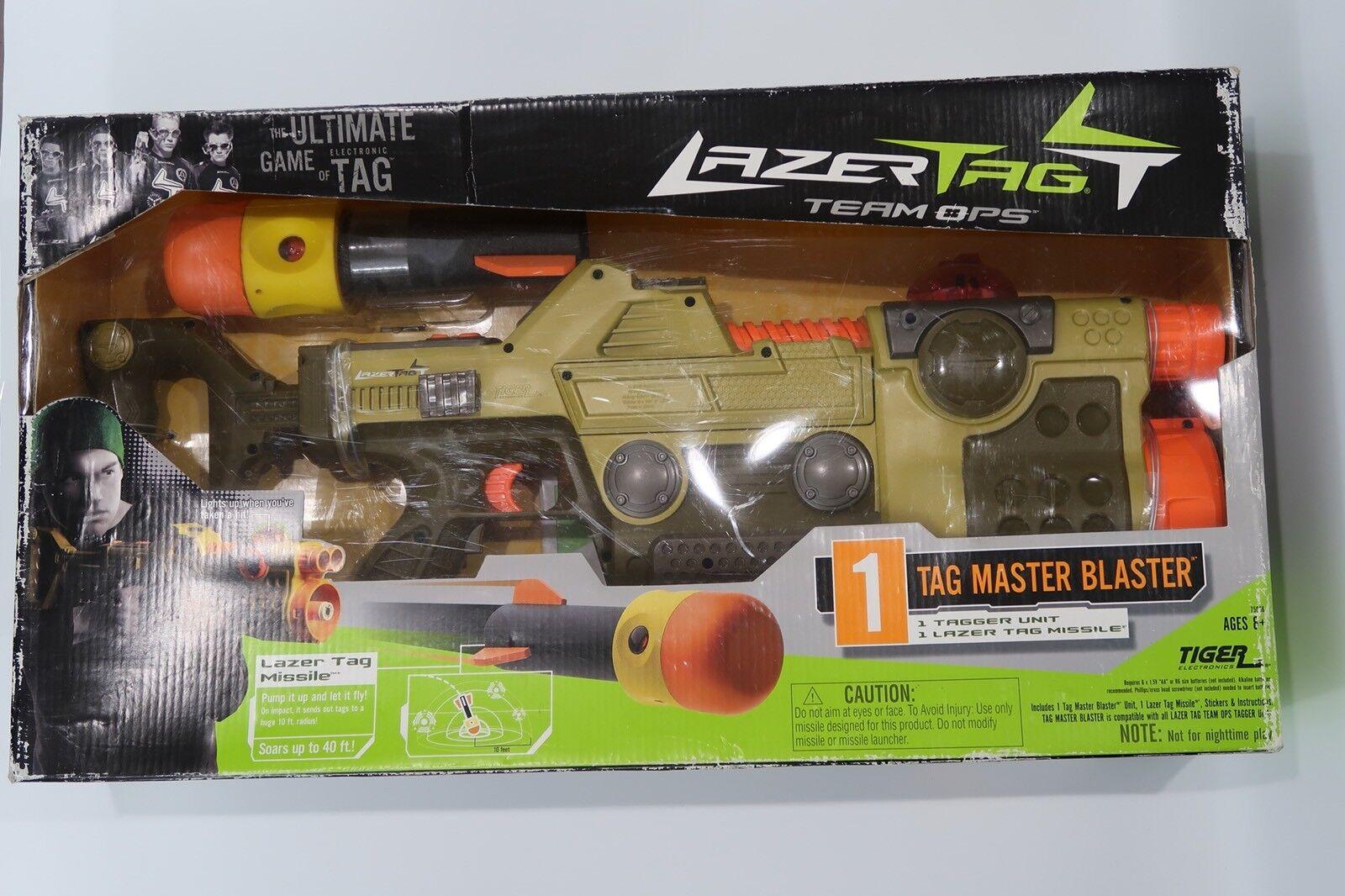 Hasbro Tiger Electronics Lazer Tag Team Ops Tag Master Blaster NY Förseglad