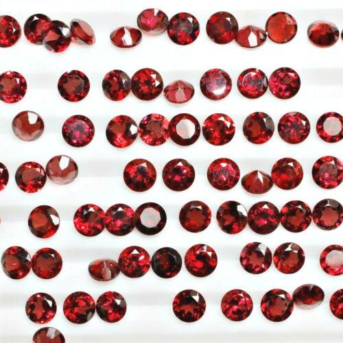 Wholesale Lot de 2.5 mm Ronde facettes Mozambique Garnet loose étalonné Gemstone