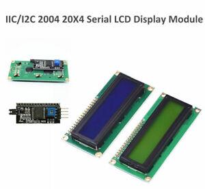 IIC-I2C-serielle-Schnittstelle-Blau-Gruen-2004-20X4-LCD-Anzeige-Modul-fuer-Arduino