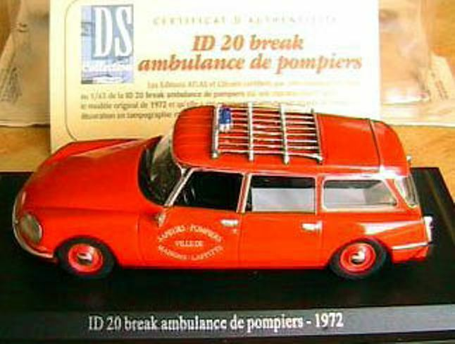 CITROEN  ID 20 BREAK BREAK BREAK AMBULANCE POMPIER 1972 UH 1 43 MAISONS LAFFITTE POMPIERS 83907f