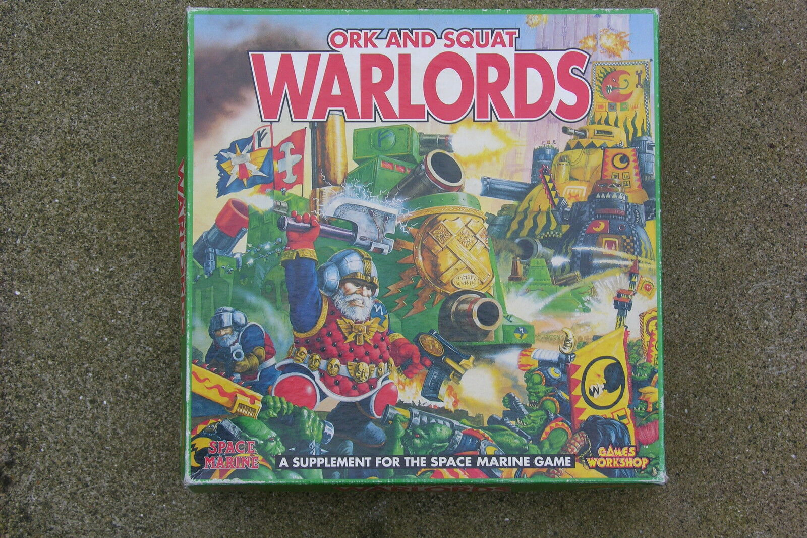 GAMES WORKSHOP,SPACE MARINE GAME,ORK AND SQUAT WARLORDS, BNIB, SEALED