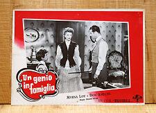 UN GENIO IN FAMIGLIA fotobusta poster Don Ameche Myrna Loy So Goes my Love G79