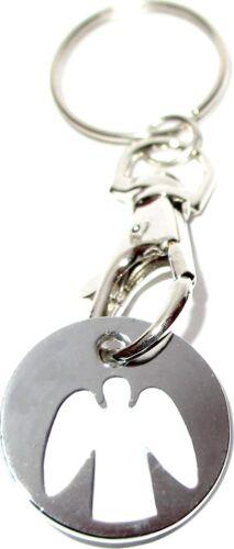 Schutzengel mit Karabinerhaken Schlüsselanhänger Engel Einkaufswagenchip