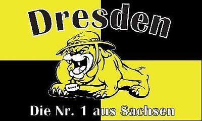 Fahne Flagge Dresden Nr 1 Bulldogge 90 x 150 cm
