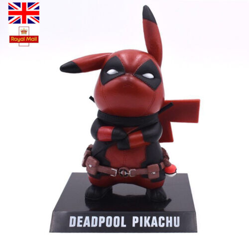 Pikachu Deadpool PVC Action Figures Toys Pokemon Cos Collectible Model Xmas Gift