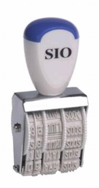 Datumstempel 4mm Monat in Ziffern SIO 91014 Datum Stempel Tag Monat Jahr
