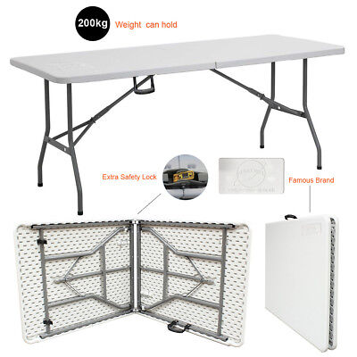 Heavy Duty 1.8m 6ft Folding Catering Camping Trestle Table Dinner /& Picnic Party