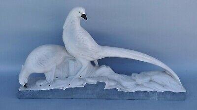 Schnelle Lieferung Goldfasan - Große Art Deco Tier Skulptur - Fasan Fasanenpaar - Um 1930 - 65cm ! Husten Heilen Und Auswurf Erleichtern Und Heiserkeit Lindern