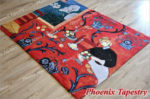 """Henri Matisse Red Table Tapestry Wall Hanging Jacquard weave 100/% Cotton 55/""""x43/"""""""