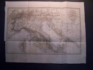 Carta-Geografica-Italia-Carte-Routiere-de-L-039-Italie-1836