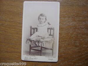 CDV ANCIENNE PHOTO Enfant Carte Visite BOURGEOISIE NOBLESSE