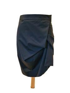 Vivienne-Westwood-Red-Label-black-draped-Pencil-Skirt-Size-42-UK-10