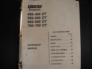 fiat 466 566 666 and 766 tractor workshop manual ebay rh ebay com Challenger Tractors Fiat Hesston Tractors 4WD