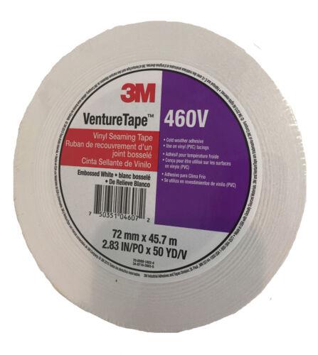 "460V 3M Venture Tape 2.83/""x150/' White Vinyl Tape"