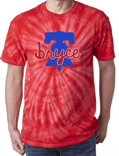 "Tie-Dye Bryce Harper Philadelphia Phillies /""Liberty Bell Logo/"" T-Shirt"