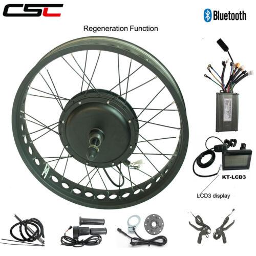 """E Bike Conversion Kit 20/"""" 26/"""" 48V 750W 1000W 1500W Electric Snow Fat Tyre Bike"""