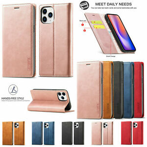 For iPhone 12 11 Pro Max Mini XS XR Leather Magnetic Flip Wallet Card Case Cover