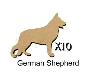 MDF-Shape-Dog-10-GERMAN-SHEPHERD-MDF-cutouts-5-SiZES-FREE-Hole-DOGW127
