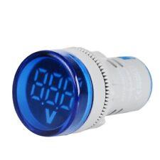 Round 22mm Digital Led Dc Panel Voltmeter 6 100v Voltage Indicator Display