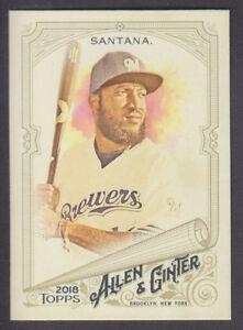 Topps-Allen-amp-Ginter-2018-Base-274-Domingo-Santana-Milwaukee-Brewers