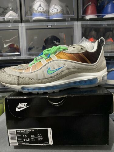 Mens Nike Air Max 98 OA GS NYC La Mezcla Grey Elec