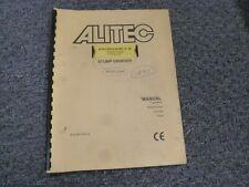 Alitec Sg40 Stump Grinder Parts Catalog Owner Operator Service Repair Manual