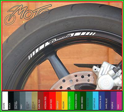 8 x SUZUKI BANDIT Wheel Rim Stickers Decals - gsf 600 650 1200 1250