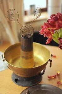 Vintage-Mongolian-Solid-Copper-Hot-Pot-Hotpot-Fondue-Steamboat-Fire-Pot