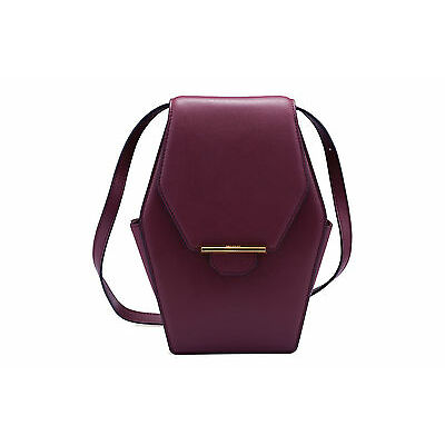 REVELRY | RUE DIAMOND leather shoulder bag SANGRIA