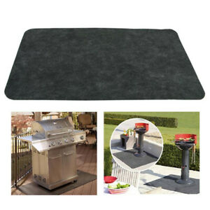 Bbq Gas Grill Mat Pad Deck Floor Protection Fire Resistant