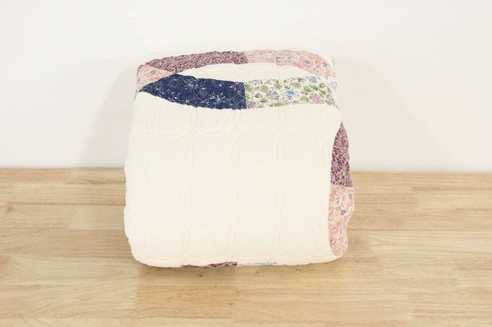 Gray QUEEN Cotton Quilt /& Shams Set Cream Martha Stewart Canyonlands FULL