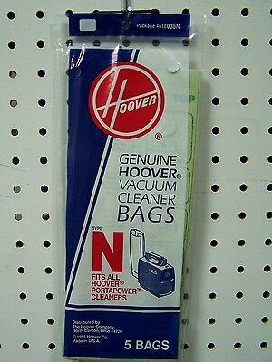 Genuine HOOVER Portapower Vacuum Bag Type N  #4010038N  5 pack  NEW!