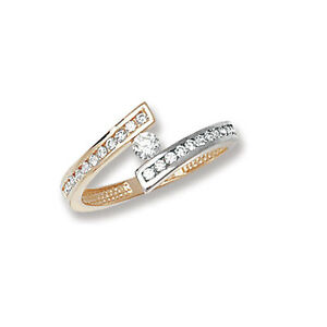 Crossover-Ring-Solitaire-ring-Yellow-and-White-Gold-Ladies-ring-hallmarked