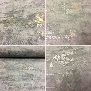 Concrete-Stone-Industrial-Brick-Wallpaper-Paste-The-Wall-Embossed-2-Colours