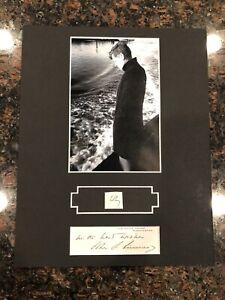 "JFK John Kennedy Display w/ Hand-Written Word ""why"" JSA LOA 8x10"