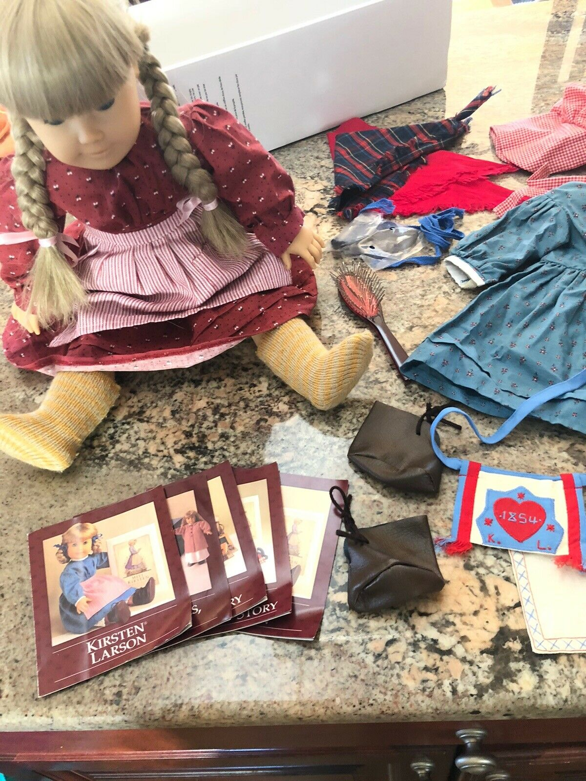 American Girl Pleasant Company Kirsten Retirot Heritage Doll with Lots Of Extras