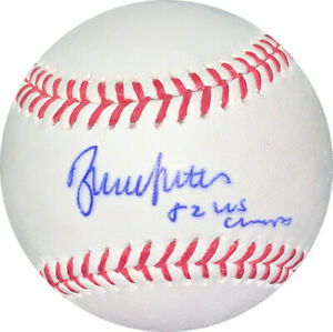 Bruce Sutter signed MLB Baseball 82 WS Champs minor bleed (Cardinals) -MAB HOLO