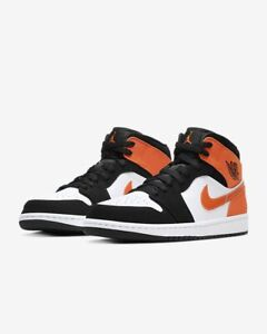 air jordan 1 mid noir et orange