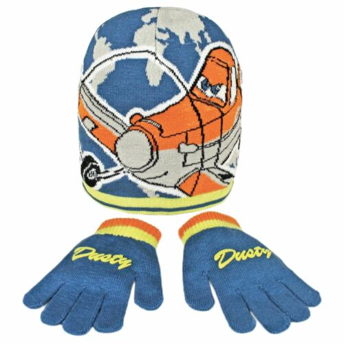 Childrens Disney Planes Accessory Set Matching Hat /& Gloves Boys Dusty Blue New