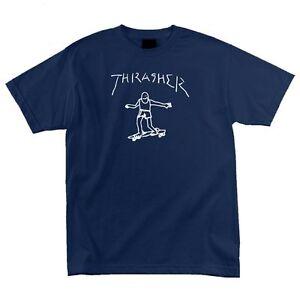 Thrasher-Magazine-Mark-Gonzales-GONZ-LOGO-Skateboard-Shirt-NAVY-MEDIUM