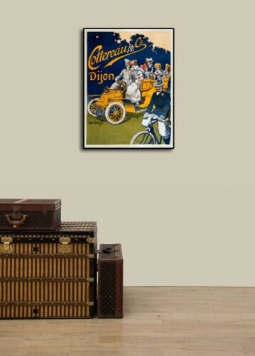 1902 Cottereau Vintage Style Horseless Carriage Advertising Poster 18x24