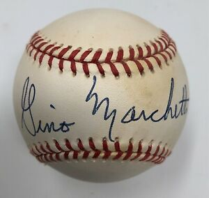 Gino Marchetti NFL HOF Signed Baseball Baltimore Colts Autograph OMLB JSA