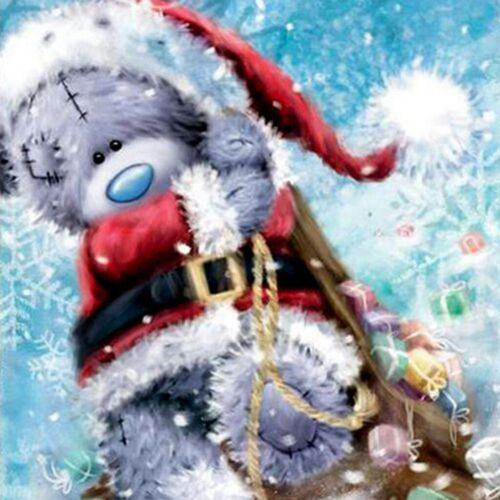 Christmas Full Drill 5D Diamond Painting Animal Decor Cross Stitch Kits DIY Gift