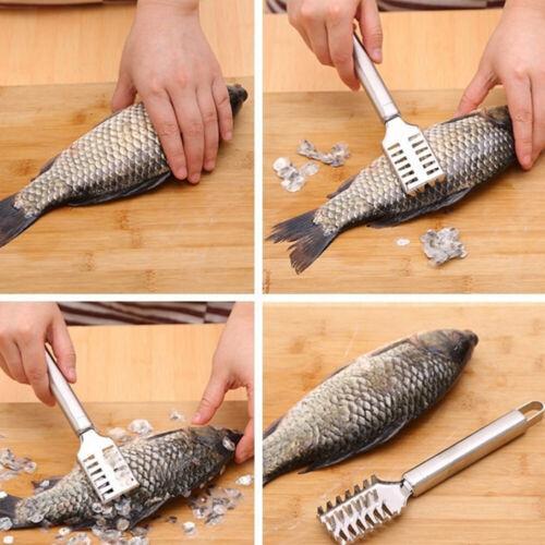 Kitchen Tool Stainless Steel Fish Scale Remover Scaler Descaler Scraper Peeler