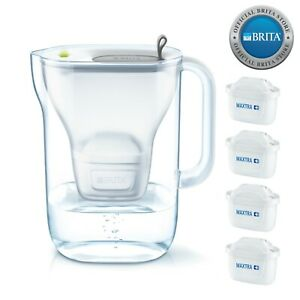 NEW-Brita-Style-Water-Filter-Jug-2-4L-amp-4-x-Maxtra-Filter-Cartridges-Grey