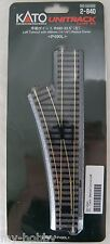 """HO Scale Code 83 Left Turnout with 490mm (19-1/4"""") Radius Curve - Kato #2-840"""