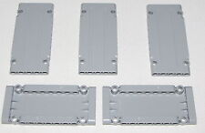 Lego Lot of 5 New Light Bluish Gray Technic Panel Plates 5 x 11 x 1 Pieces